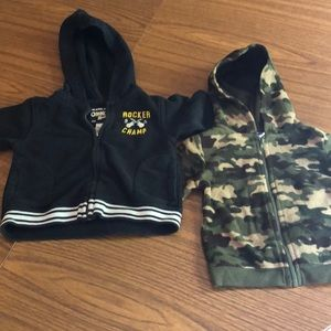 Two 12 Month Hoodies